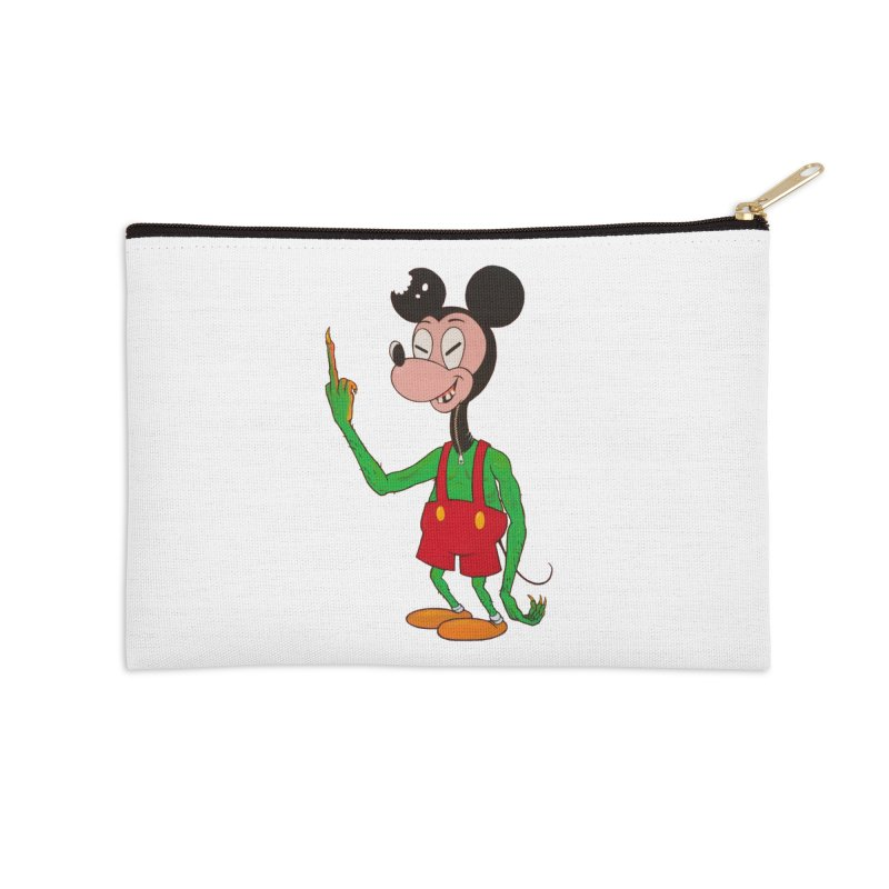 flippin mouse Accessories Zip Pouch by Jim Tozzi