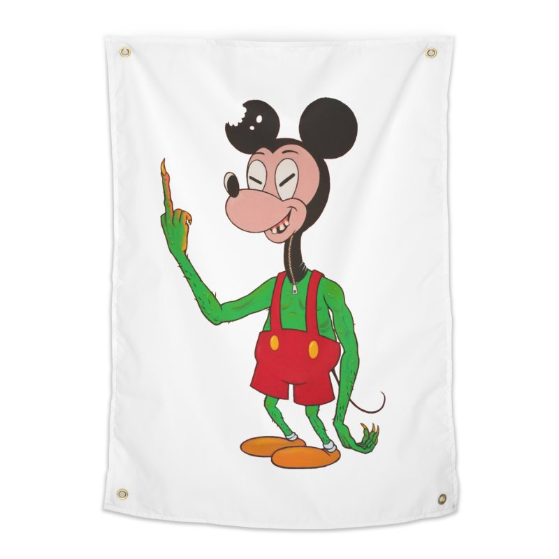 flippin mouse Home Tapestry by Jim Tozzi