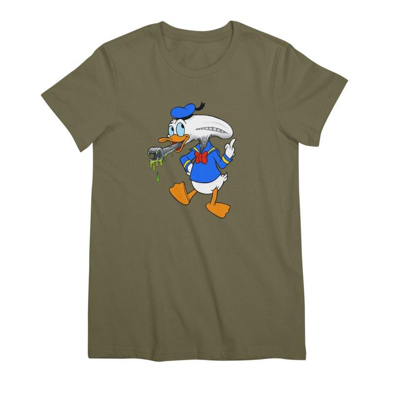 ALIENDUCK Women's Premium T-Shirt by Jim Tozzi