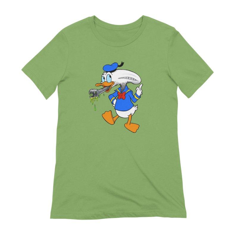 ALIENDUCK Women's Extra Soft T-Shirt by Jim Tozzi