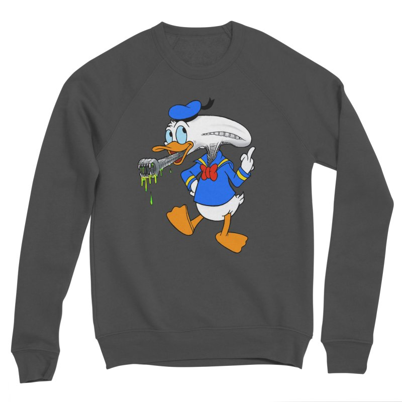 ALIENDUCK Men's Sponge Fleece Sweatshirt by Jim Tozzi