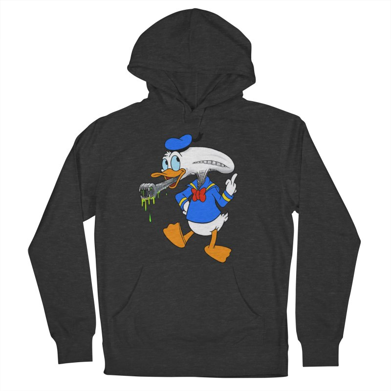 ALIENDUCK Men's French Terry Pullover Hoody by Jim Tozzi