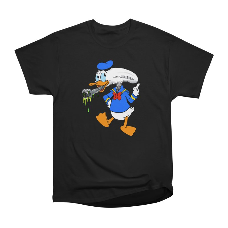 ALIENDUCK Men's Heavyweight T-Shirt by Jim Tozzi