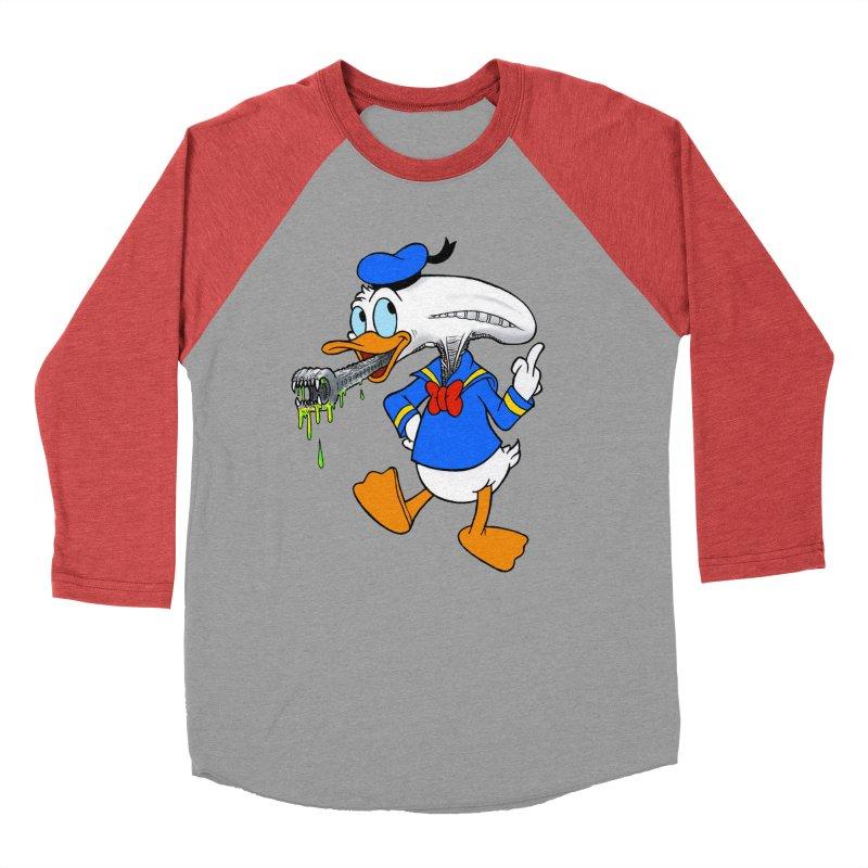 ALIENDUCK Women's Baseball Triblend Longsleeve T-Shirt by Jim Tozzi