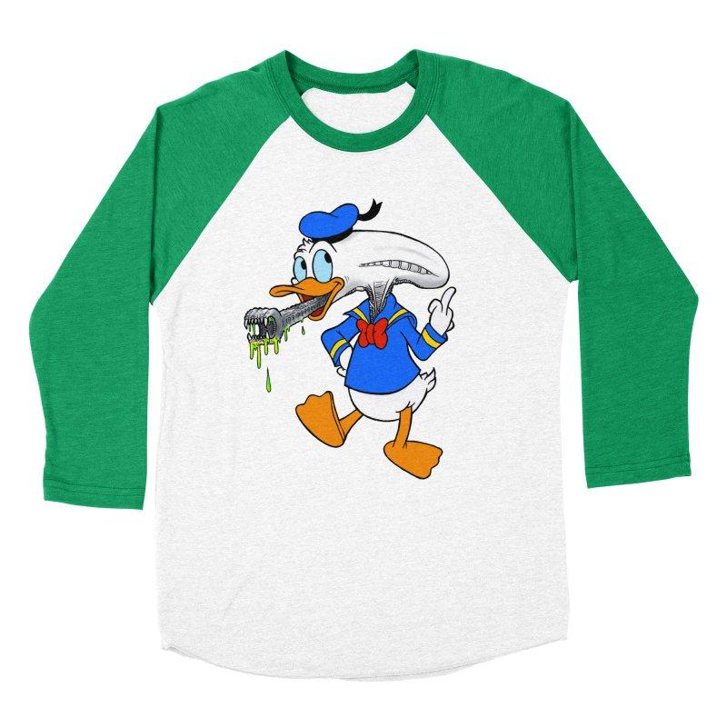 ALIENDUCK Men's Baseball Triblend Longsleeve T-Shirt by Jim Tozzi