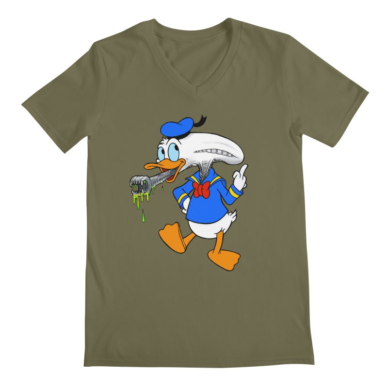 ALIENDUCK Men's Regular V-Neck by Jim Tozzi