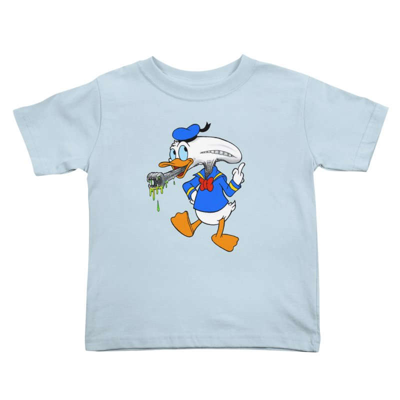 ALIENDUCK Kids Toddler T-Shirt by Jim Tozzi