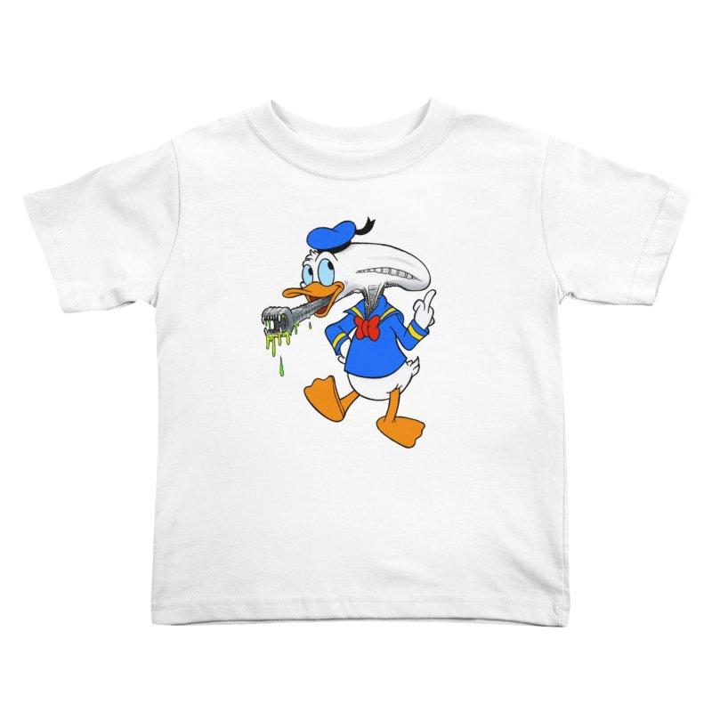 ALIENDUCK Kids Toddler T-Shirt by Jim Tozzi