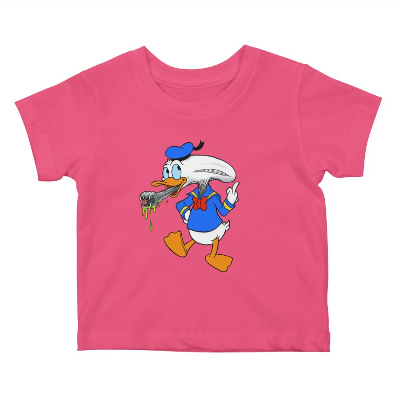 ALIENDUCK Kids Baby T-Shirt by Jim Tozzi