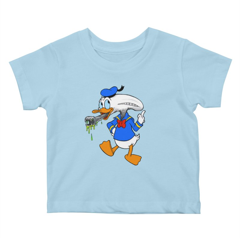 ALIENDUCK Kids Baby T-Shirt by Jim Tozzi