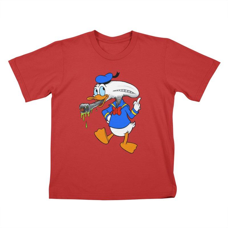 ALIENDUCK Kids T-Shirt by Jim Tozzi