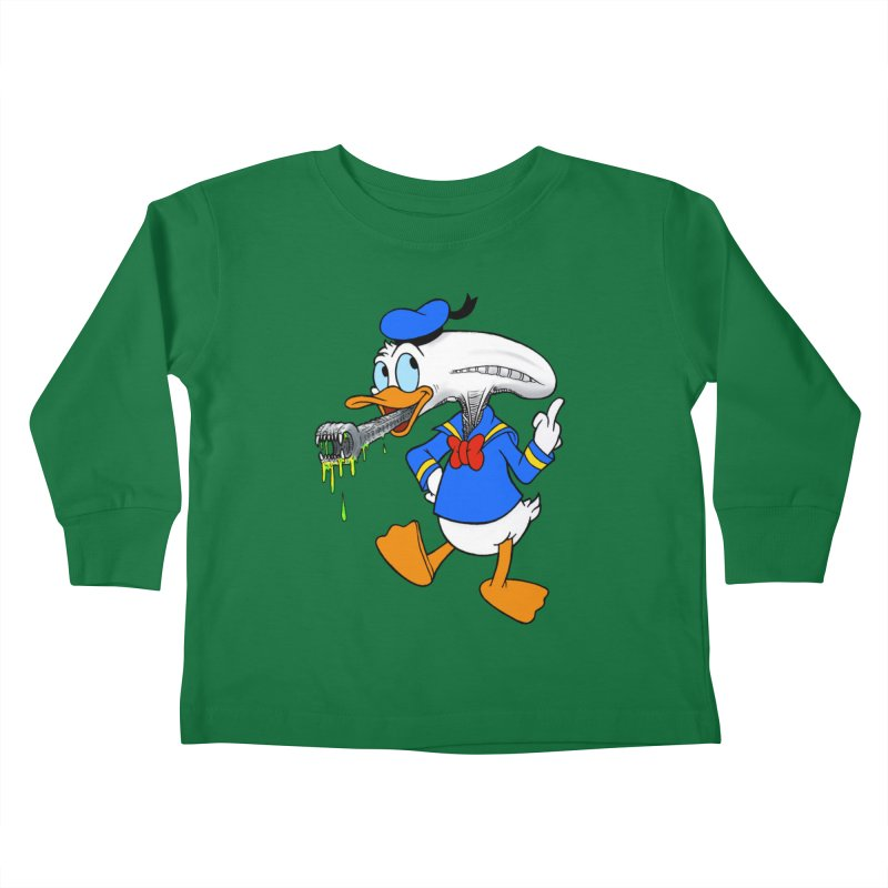 ALIENDUCK Kids Toddler Longsleeve T-Shirt by Jim Tozzi