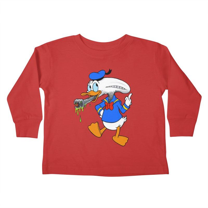 ALIENDUCK Kids Toddler Longsleeve T-Shirt by Jim Tozzi