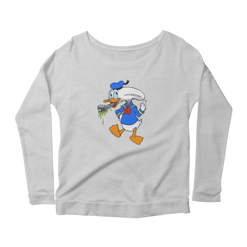 ALIENDUCK Women's Scoop Neck Longsleeve T-Shirt by Jim Tozzi