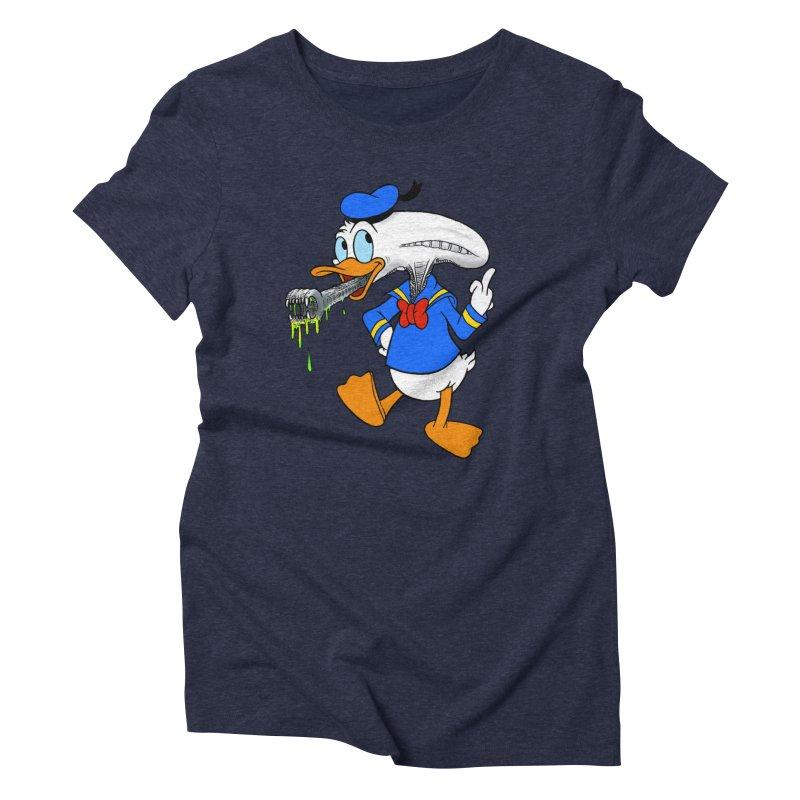 ALIENDUCK Women's Triblend T-Shirt by Jim Tozzi