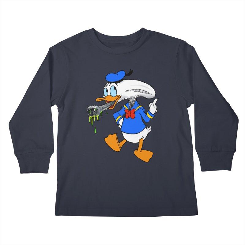 ALIENDUCK Kids Longsleeve T-Shirt by Jim Tozzi