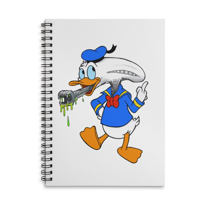 ALIENDUCK Accessories Lined Spiral Notebook by Jim Tozzi