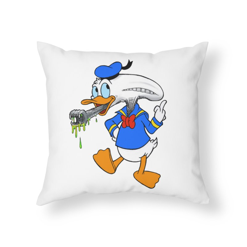 ALIENDUCK Home Throw Pillow by Jim Tozzi