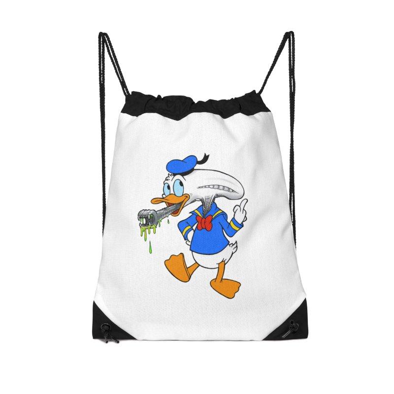 ALIENDUCK Accessories Drawstring Bag Bag by Jim Tozzi