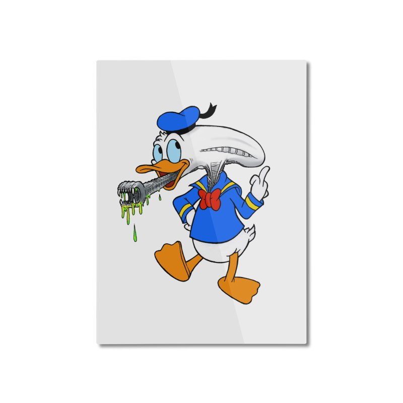 ALIENDUCK Home Mounted Aluminum Print by Jim Tozzi