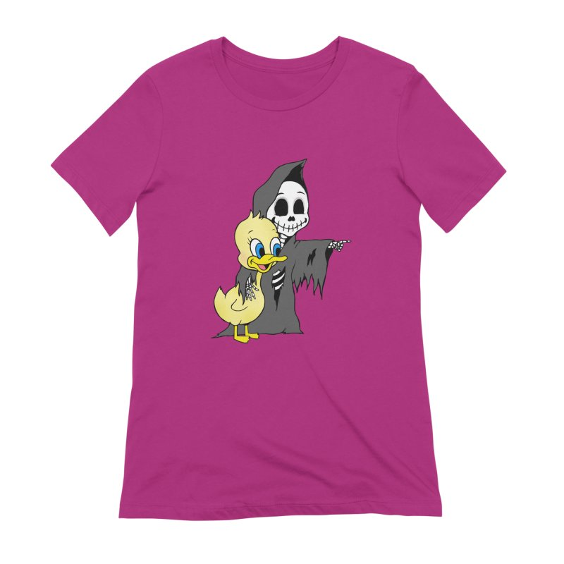 cute death Women's Extra Soft T-Shirt by Jim Tozzi