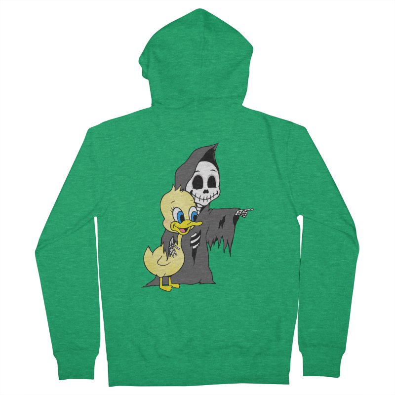 cute death Men's Zip-Up Hoody by Jim Tozzi