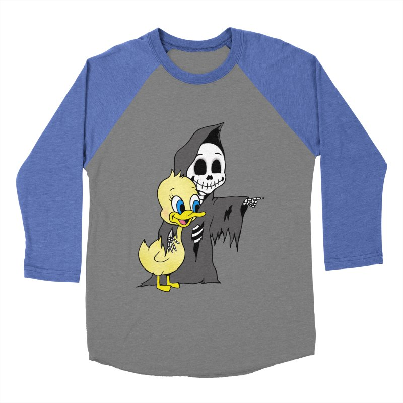 cute death Men's Baseball Triblend T-Shirt by Jim Tozzi