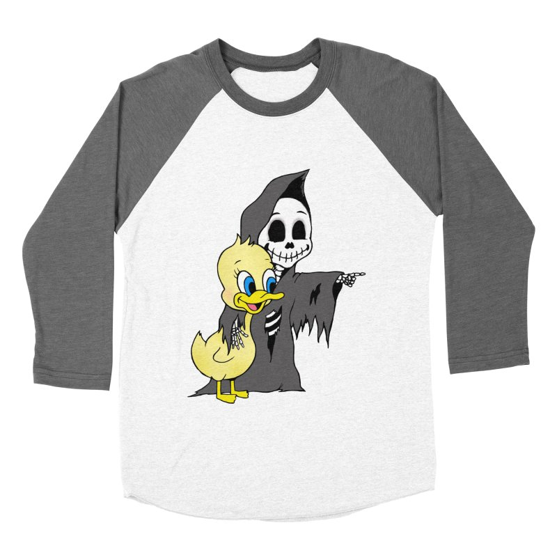 cute death Men's Baseball Triblend T-Shirt by Jim Tozzi
