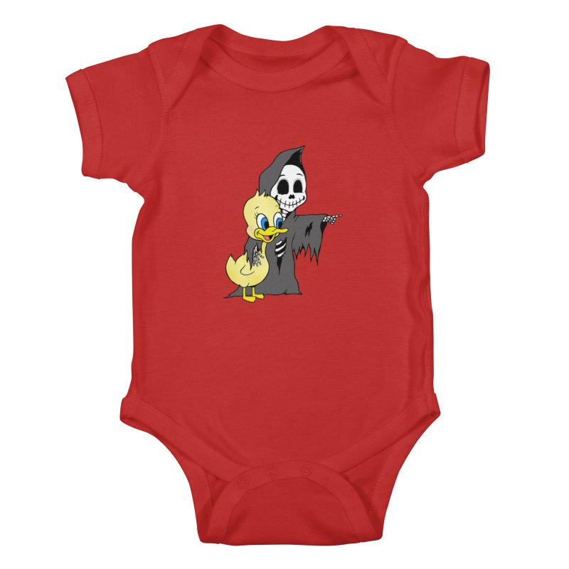 cute death Kids Baby Bodysuit by Jim Tozzi