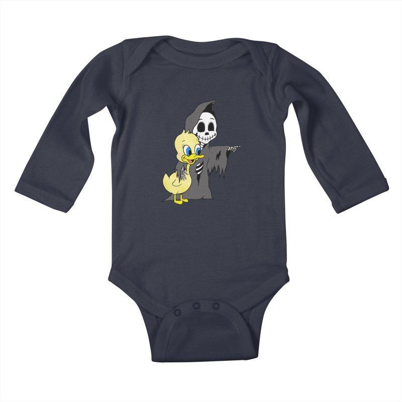 cute death Kids Baby Longsleeve Bodysuit by Jim Tozzi