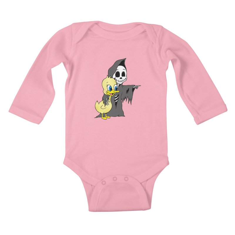 cute death Kids Baby Longsleeve Bodysuit by Jim Tozzi