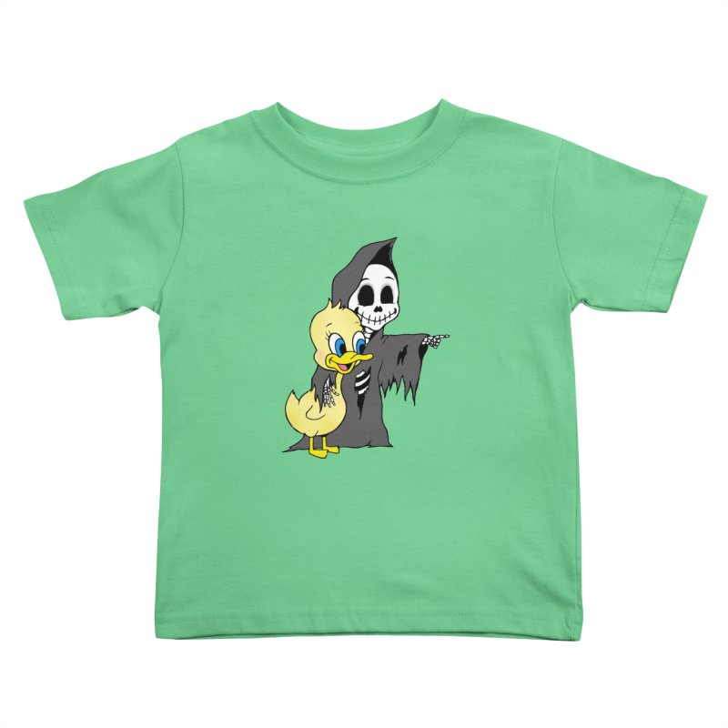 cute death Kids Toddler T-Shirt by Jim Tozzi