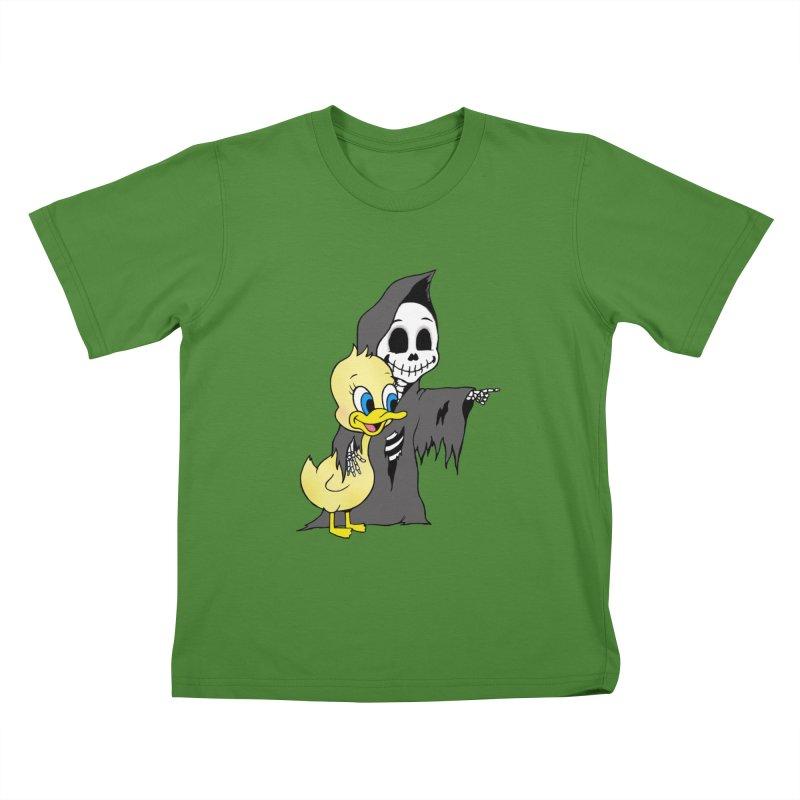 cute death Kids T-Shirt by Jim Tozzi