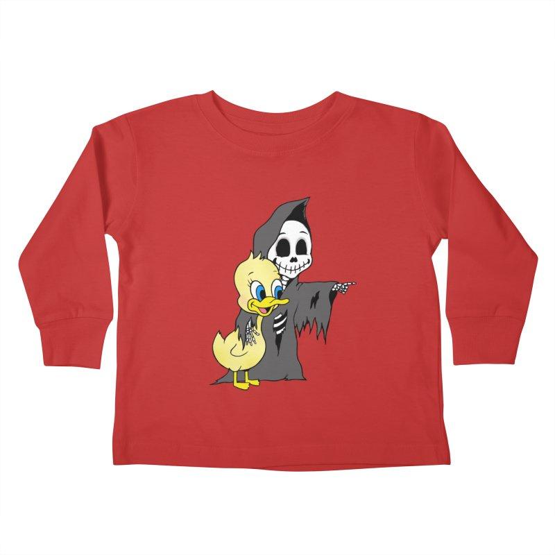 cute death Kids Toddler Longsleeve T-Shirt by Jim Tozzi