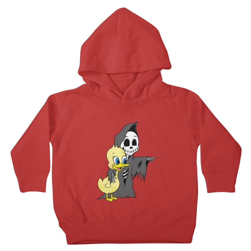 cute death Kids Toddler Pullover Hoody by Jim Tozzi