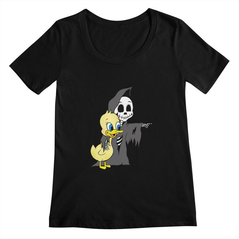cute death Women's Scoopneck by Jim Tozzi