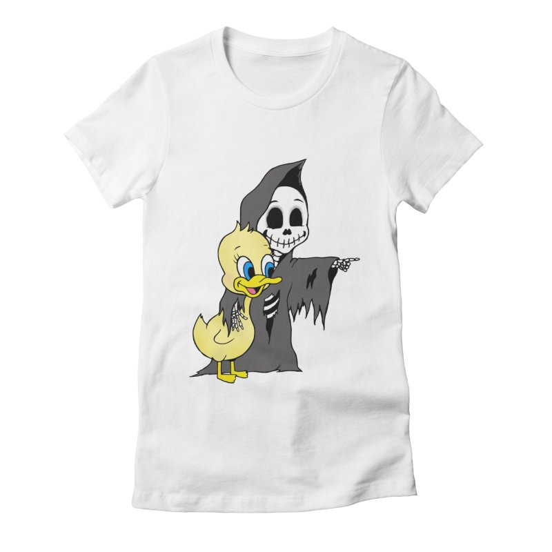 cute death Women's Fitted T-Shirt by Jim Tozzi