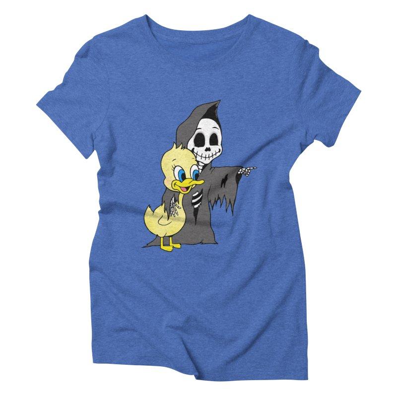 cute death Women's Triblend T-Shirt by Jim Tozzi