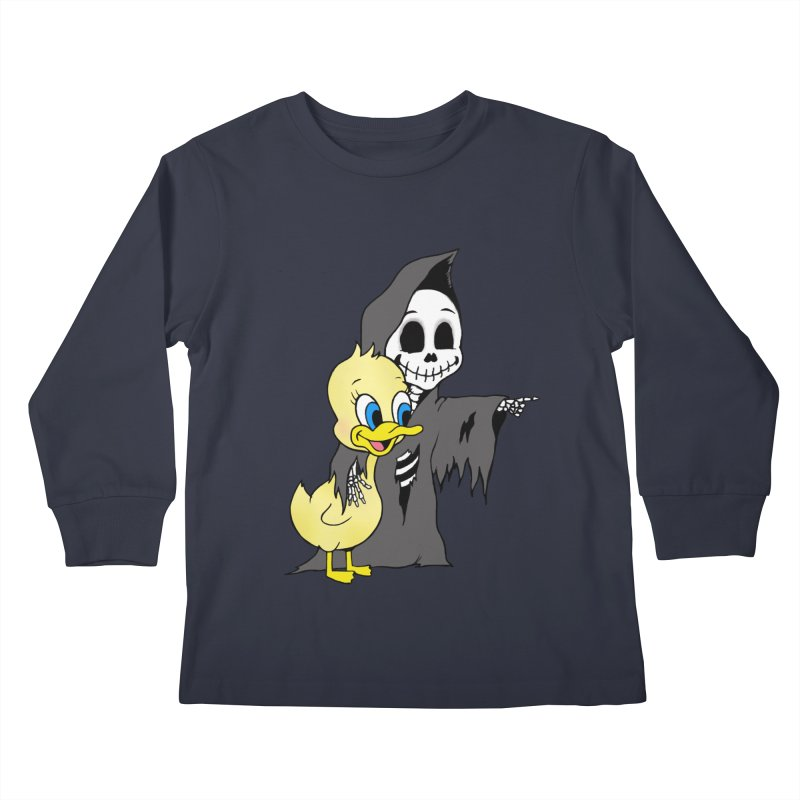 cute death Kids Longsleeve T-Shirt by Jim Tozzi