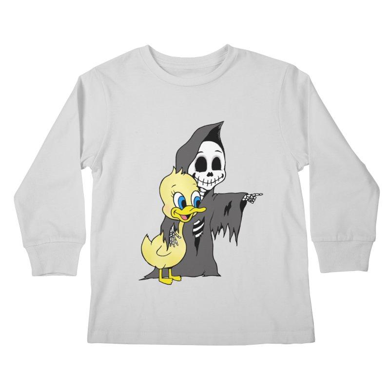 cute death Kids Longsleeve T-Shirt by Jim Tozzi