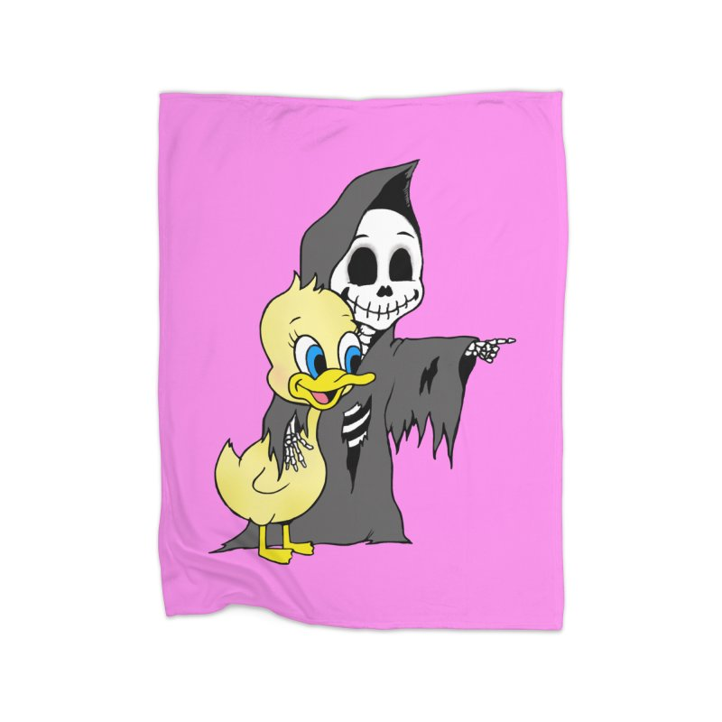 cute death Home Blanket by Jim Tozzi