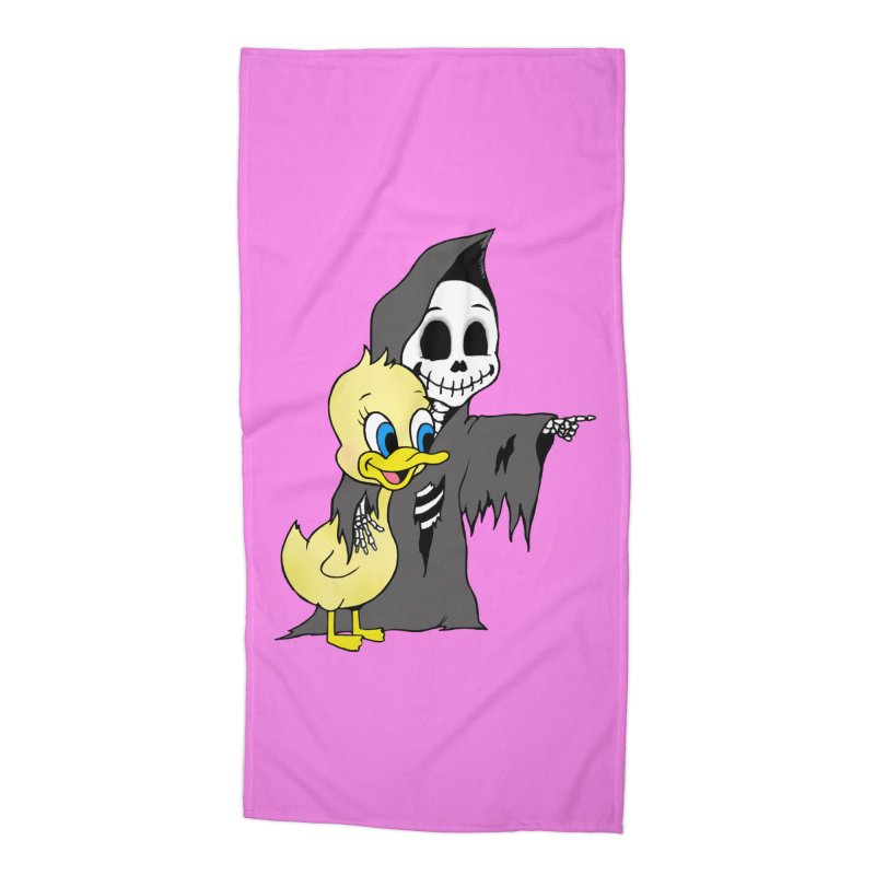 cute death Accessories Beach Towel by Jim Tozzi