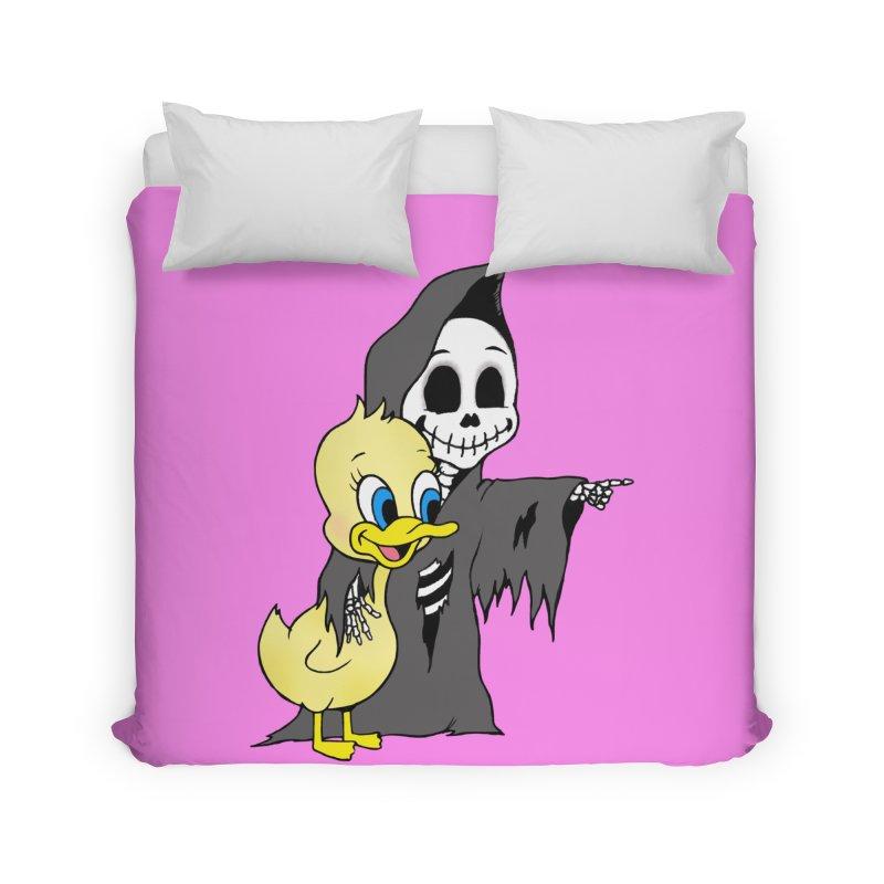 cute death Home Duvet by Jim Tozzi