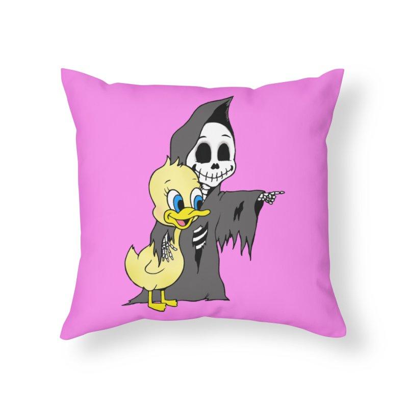 cute death Home Throw Pillow by Jim Tozzi