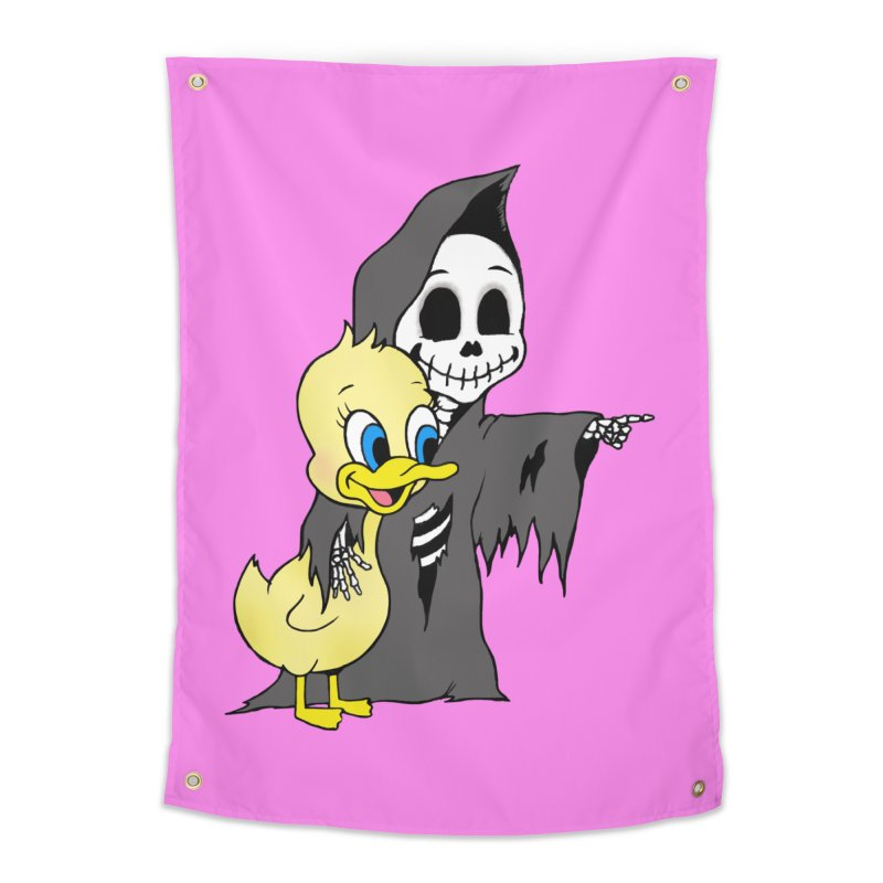 cute death Home Tapestry by Jim Tozzi
