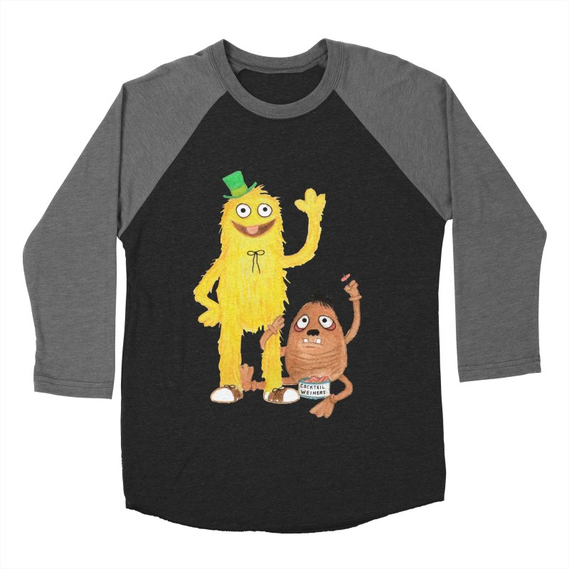 Chauncey and HIM Men's Baseball Triblend T-Shirt by Jim Tozzi