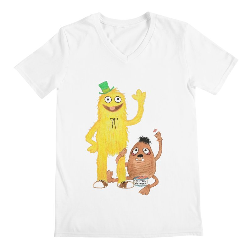 Chauncey and HIM Men's V-Neck by Jim Tozzi