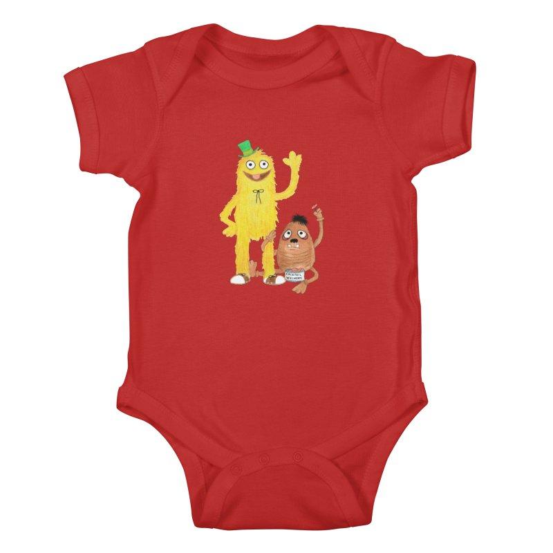 Chauncey and HIM Kids Baby Bodysuit by Jim Tozzi