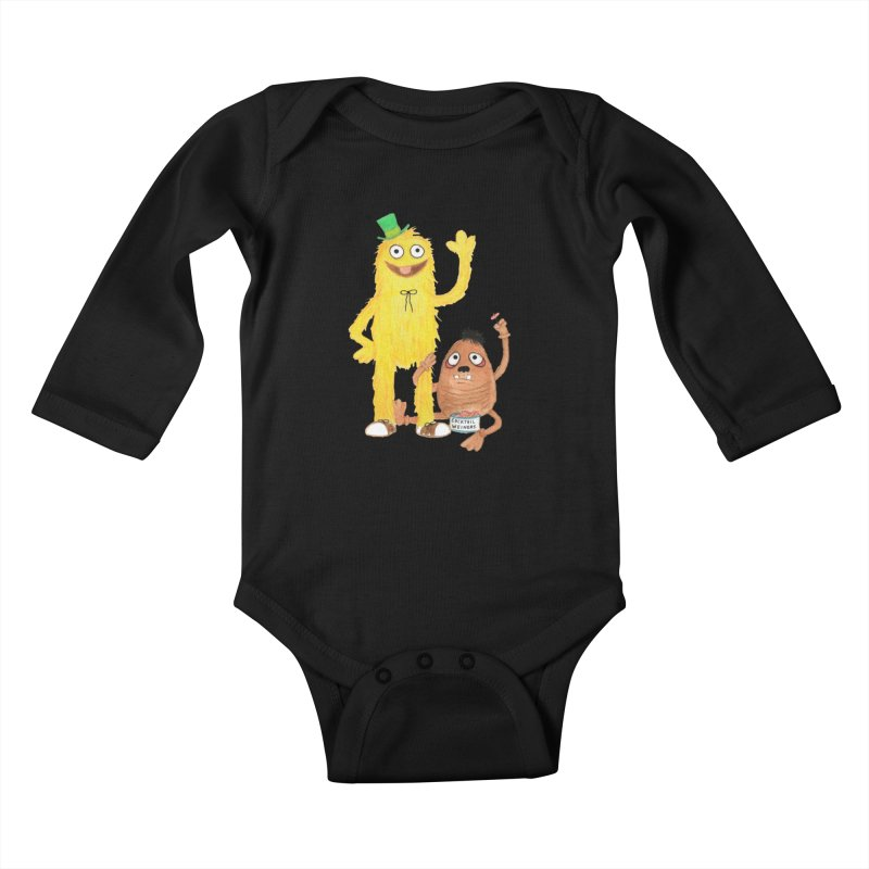 Chauncey and HIM Kids Baby Longsleeve Bodysuit by Jim Tozzi