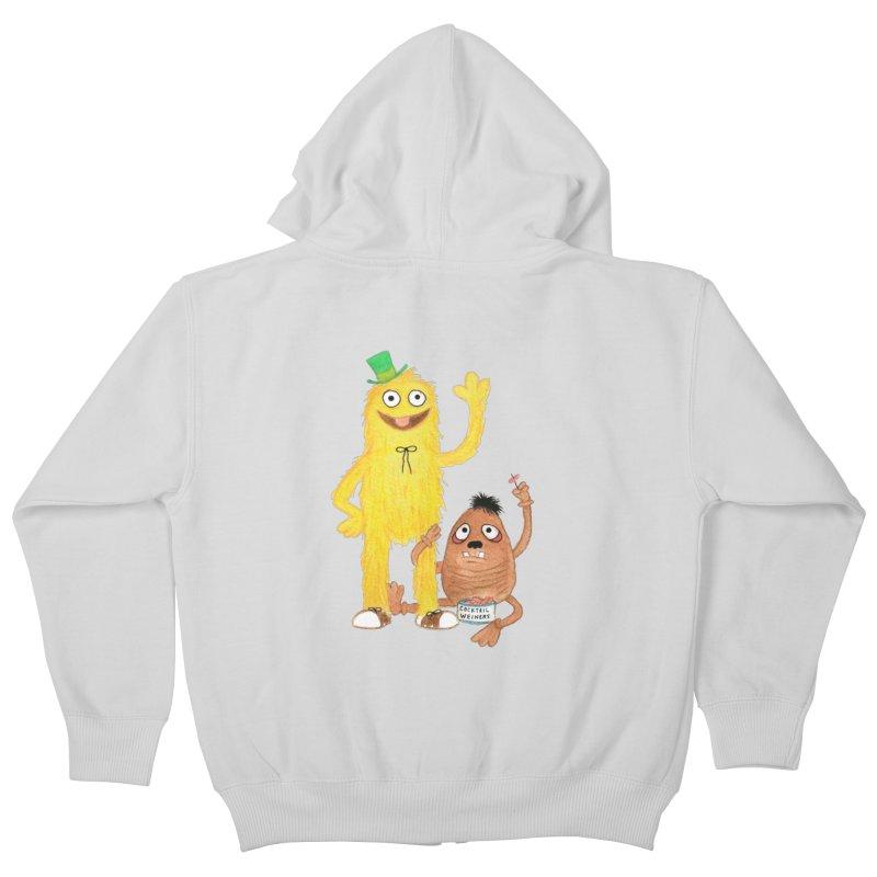 Chauncey and HIM Kids Zip-Up Hoody by Jim Tozzi
